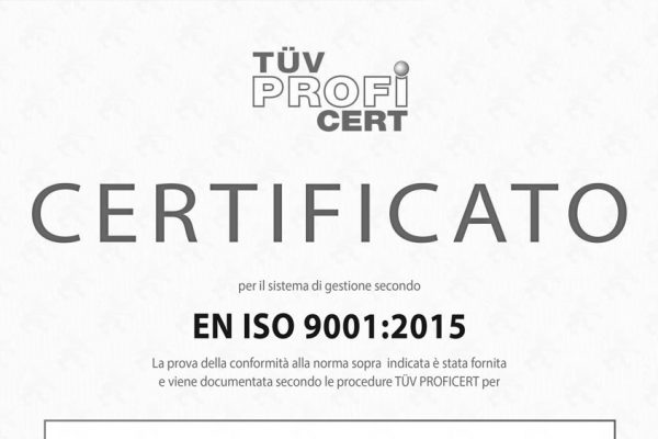 APRIL 2016: START OF ACTIVITIES TO GET THE QUALITY CERTIFICATION  ISO 9001