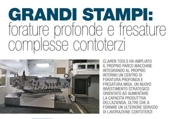 GRANDI STAMPI:  FORATURE PROFONDE E FRESATURE COMPLESSE CONTOTERZI